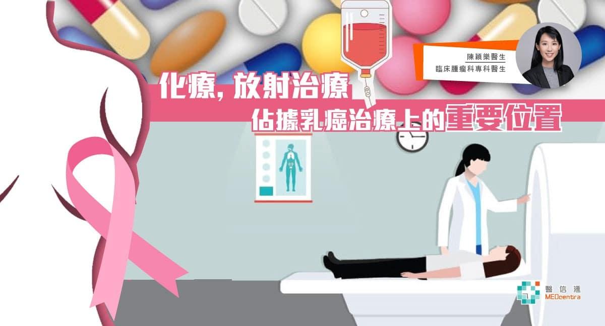 談化療和放射治療在乳癌治療上的角色