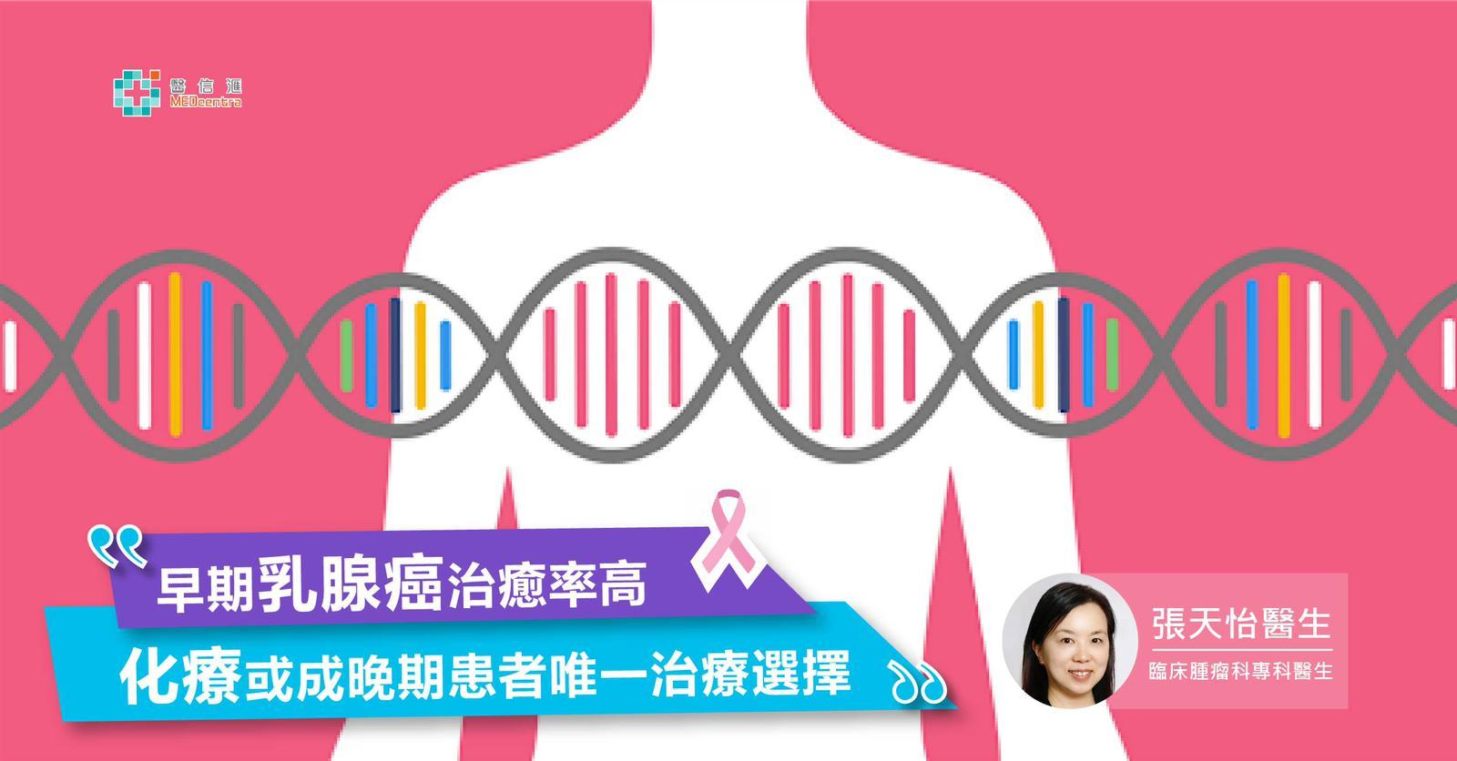 早期乳腺癌治癒率高<br> 化療或成晚期患者唯一治療選擇