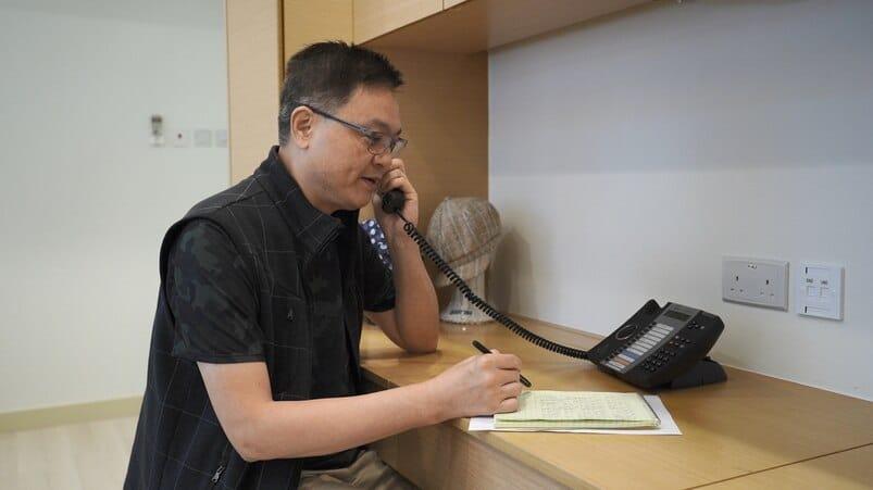 癌症基金會的「慰問電話 Caring Call」義工活動
